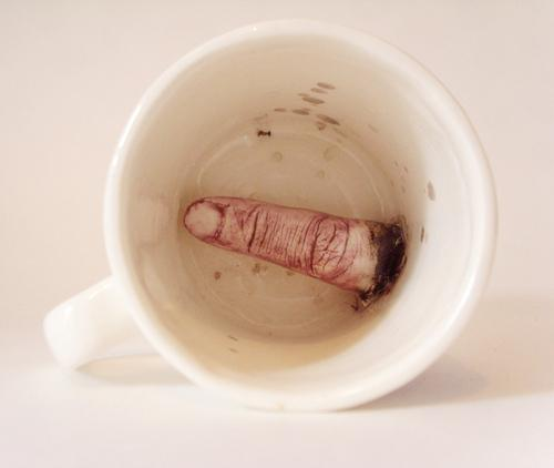 Souvenir Blackpool Mug with Surprise Finger